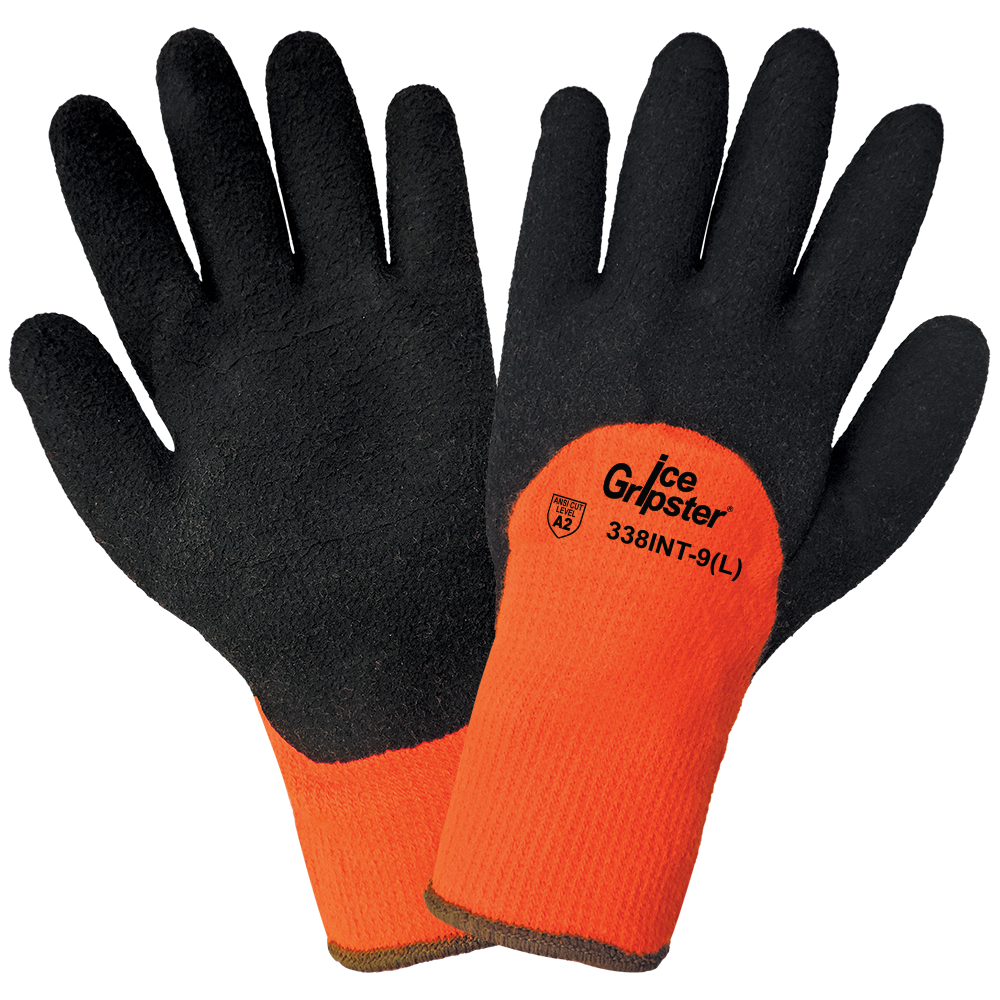 Ice Gripster High Visibility Gloves with Grip | Pack of 12 | 338INT