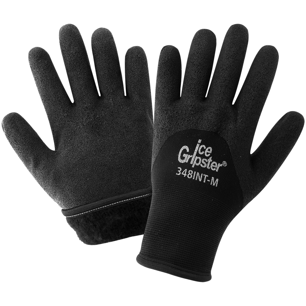Ice Gripster Winter Work Gloves with Grip | Pack of 12 | 348INT