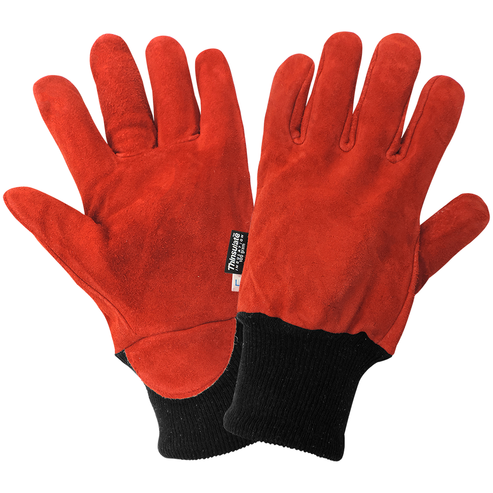 Split Cowhide Leather Freezer Gloves | Pack of 12 | 624-L