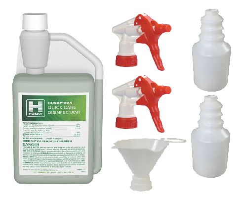 UNIDIS/KIT Husky 824 Concentrate with 2 Bottles 2 Sprayers & Funnel