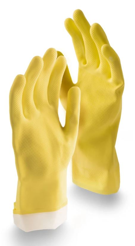 LIB1321 Medium All-Purpose Reusable Latex Gloves - Pk/2/pair