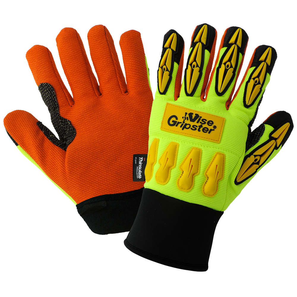 Oil and Gas Work Gloves | High Visibility | Pack of 12 | SG9955INT