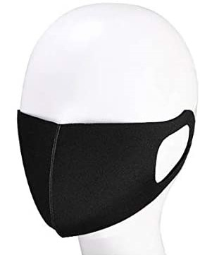 UNIPFC1 Black Reusable Mask - Ea