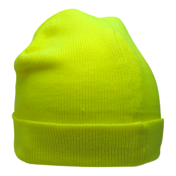 High Vis Lime Winter Polyester Stretch Hat | GLO-H4 | 15% Off With Code: WINTER
