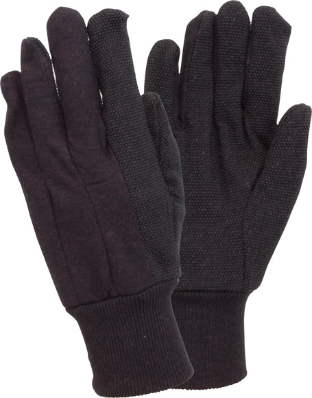Jersey PVC Dotted Gloves | Pack of 12 | GJBC-KW-PK