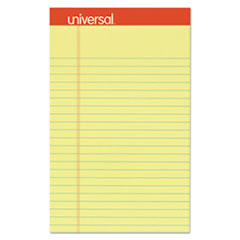 UNV46200 Perforated Edge Writing Pad, Narrow Rule, 5 x 8 (Canary Yellow)
