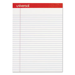 UNV20630 Perforated Edge Writing Pad, Legal Ruled, Letter, White, 50 Sheet, Dozen