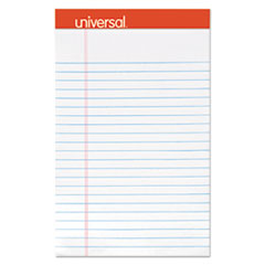 UNV46300 Perforated Edge Writing Pad, Narrow Rule, 5 x 8, White, 50 Sheet