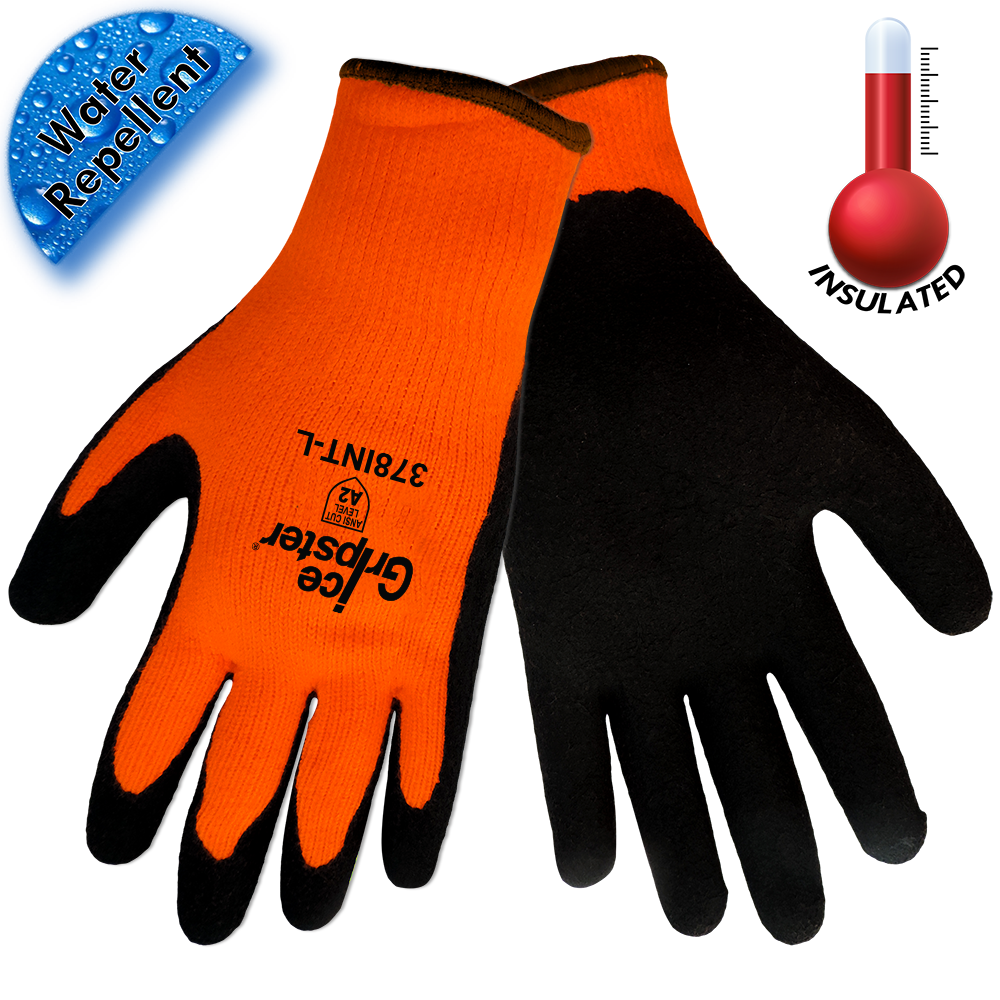 Ice Gripster High Visibility Gloves | Pack of 12 | 378INT | 15% Off With Code: WINTER