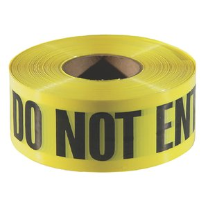 BT4044 Barricade Tape 3 mil.  Blk/Yel 'Caution Do Not Enter' - ea